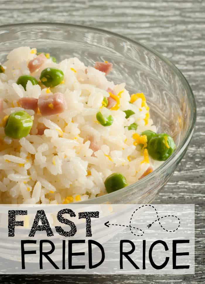 This fried rice recipe is so easy and fun I make it for lunch by itself sometimes