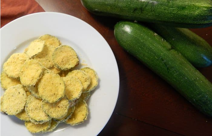 fried zucchini in the oven featured