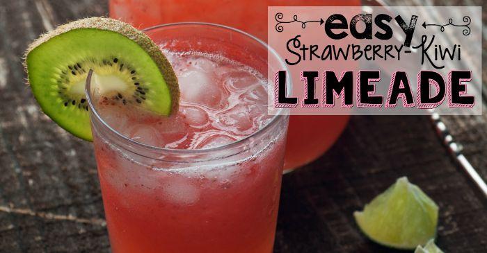 Easy Strawberry-Kiwi Limeade - Nerdy Mamma