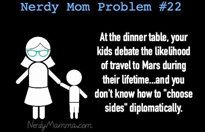 Nerdy Mom Problem 22 - Mars feature
