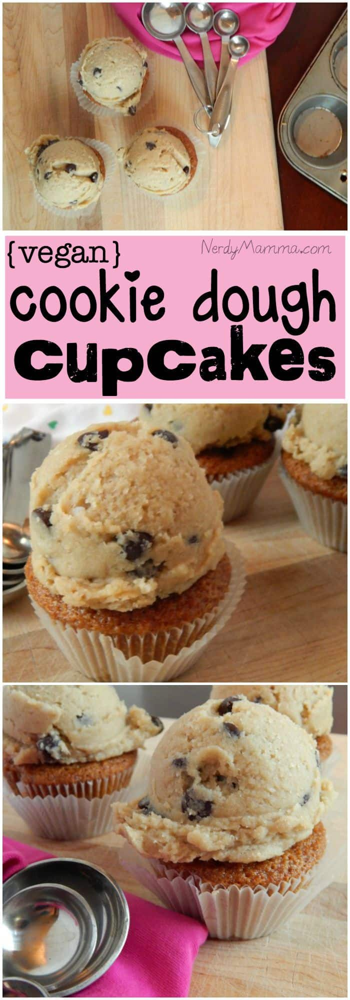 These dairy-free egg-free cookie dough cupcakes are so delicious and my kids think their really getting an awesome treat when I make these!