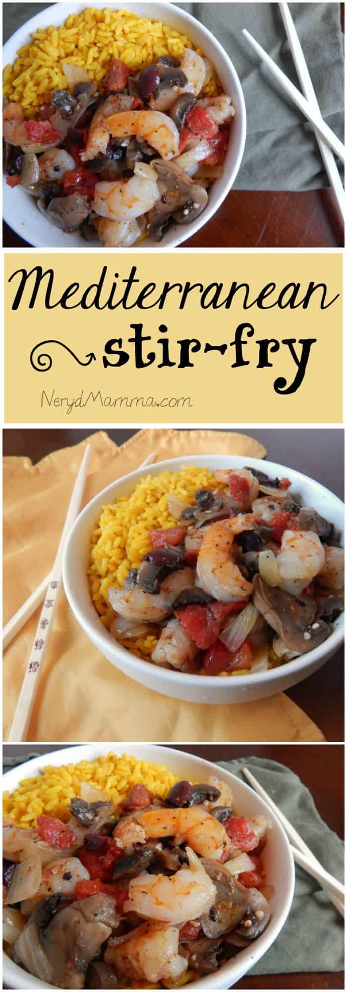This is such a fast and easy dinner. I love this Mediterranean Stir-Fry.