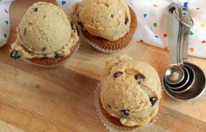 dairy-free cookie dough cupcake idea feature