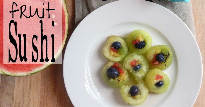 fun sushi made with fruit for kids fb