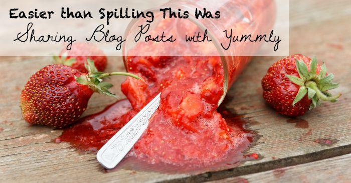 sharing blog posts with yummly fb