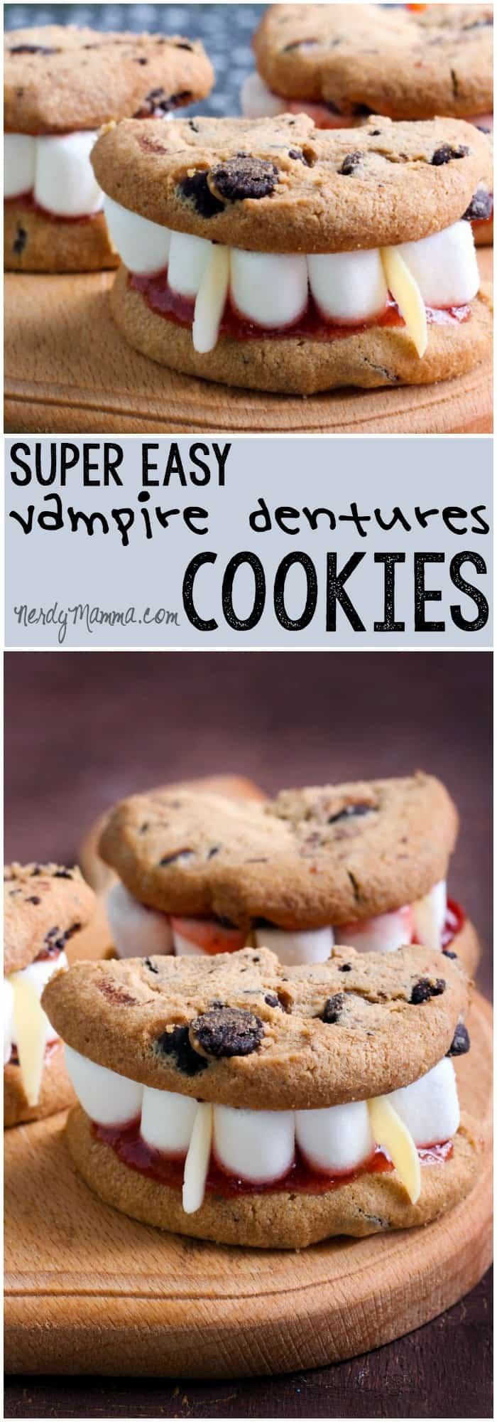 I had my teenager help me make thesedracula's dentures cookies. They were so easy and fun--he wants to bring them to his class on Friday...LOL!