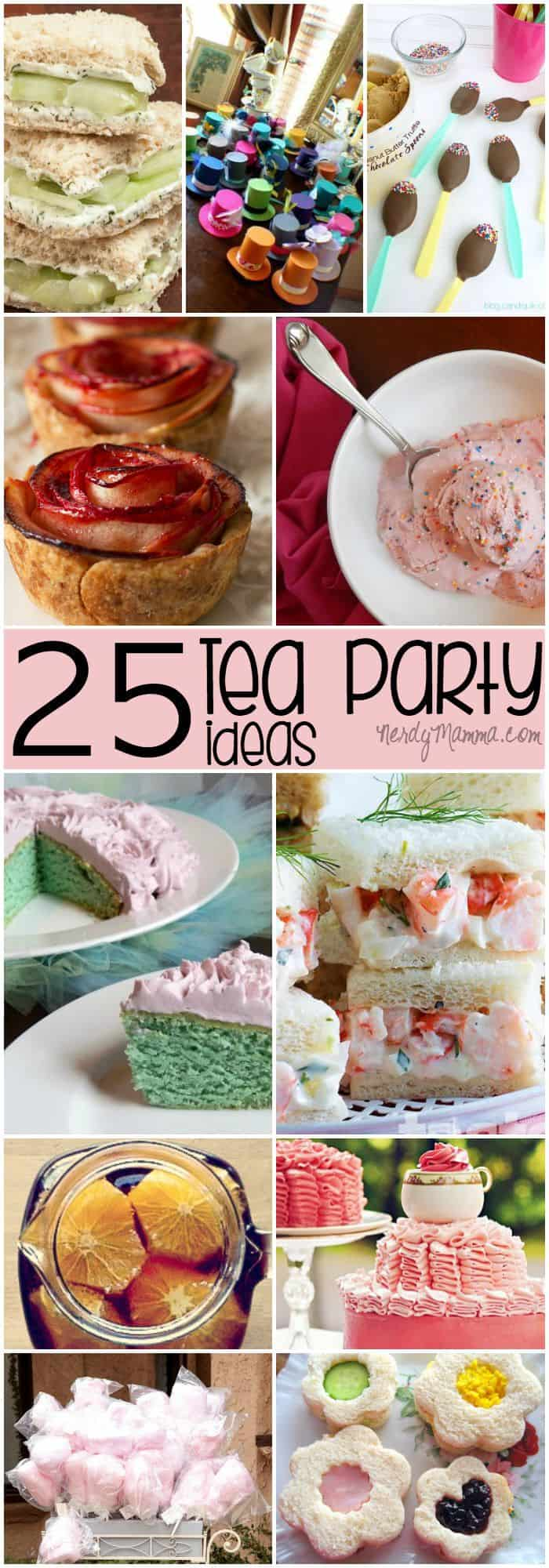 I love these 25 Tea Party Ideas for a little girl's birthday! So cute!