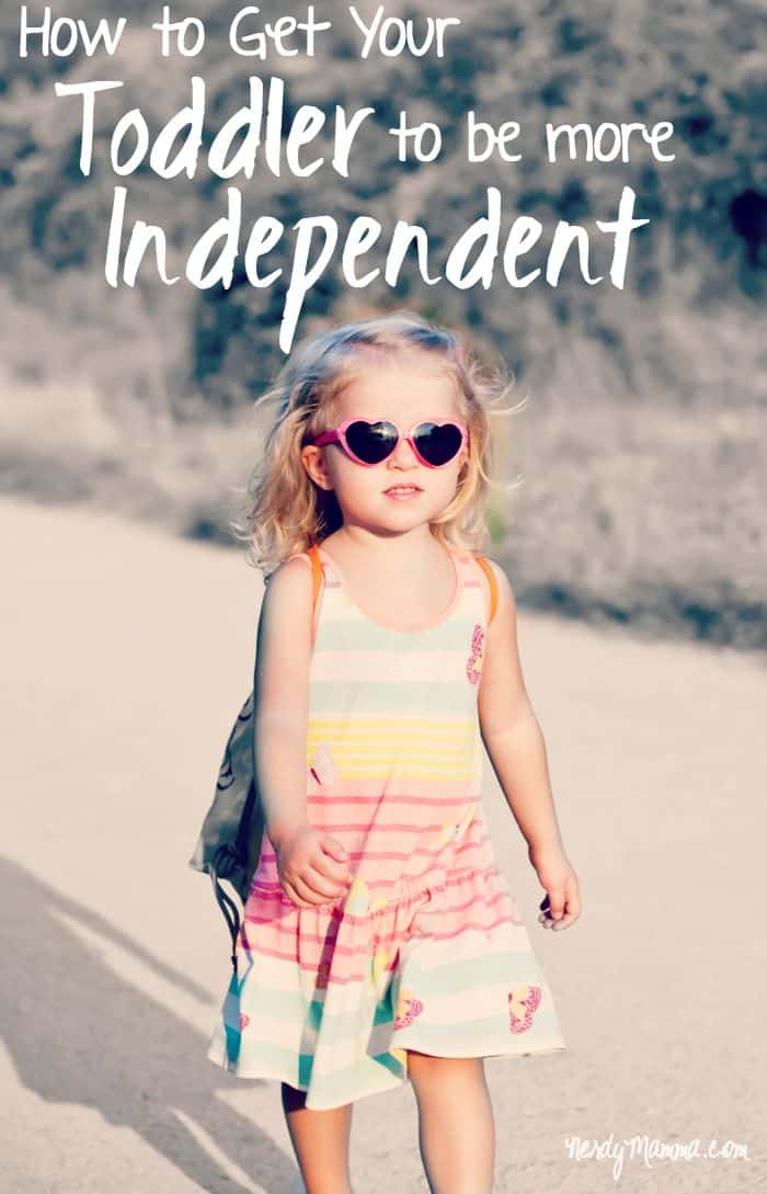 I love these ideas on how to help your toddler to become more independent!