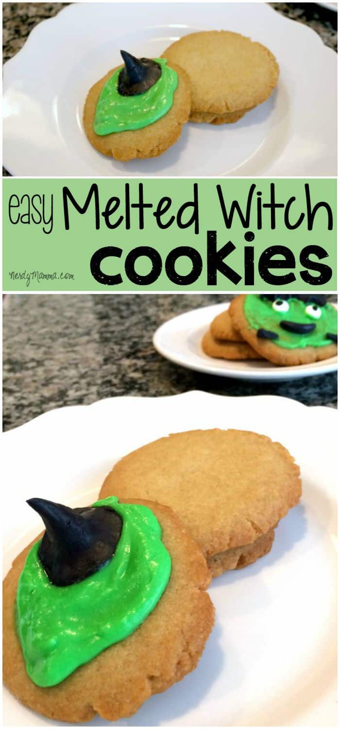 My kids had a blast decorating these silly melted wicked witch cookies!