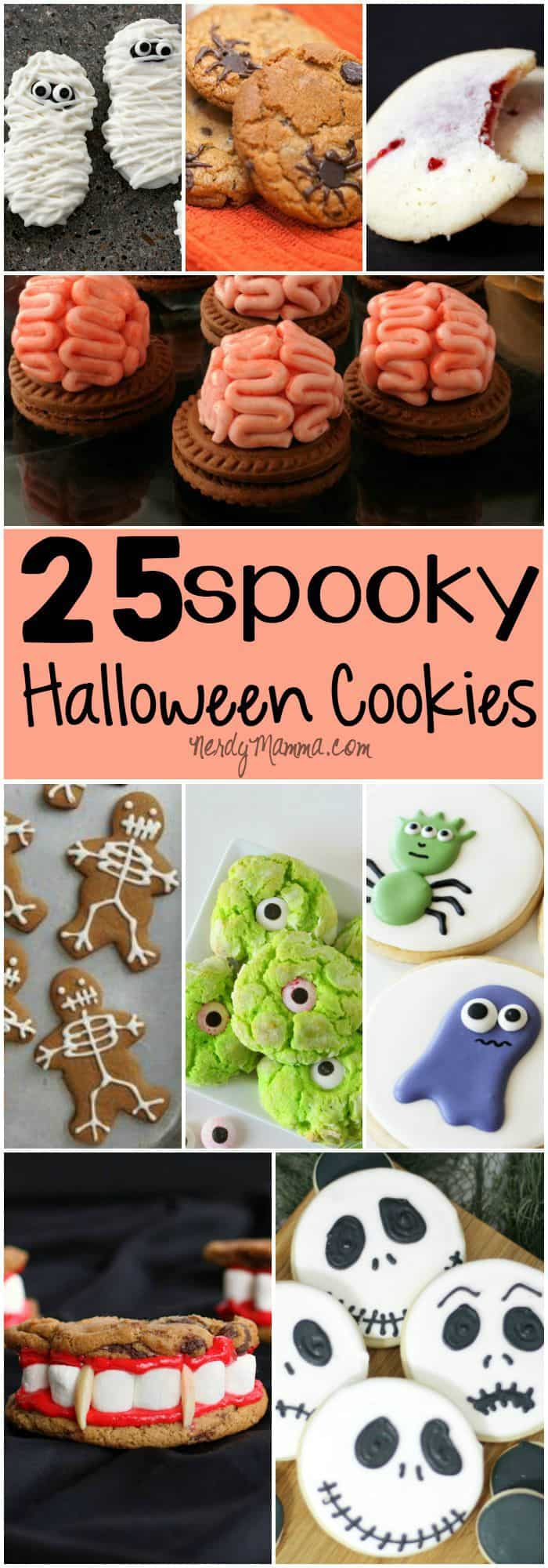 These halloween cookies are so cool! I want to make them all!