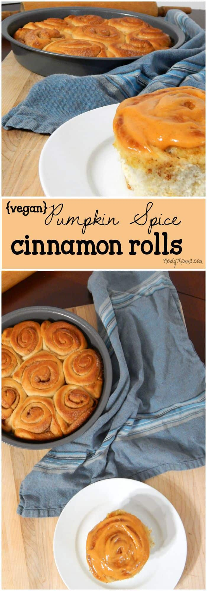 These homemade pumpkin spice cinnamon rolls are so easy to make--and ridiculously yummy. I will NEVER buy store-bought cinnamon rolls again.