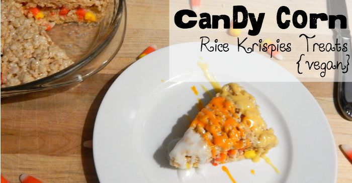 candy corn rice krispies treats for halloween fb
