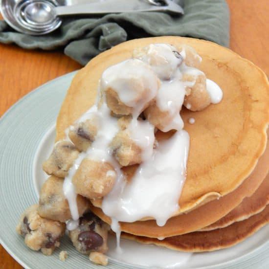 dairy-free and egg-free cookie dough pancake recipe fg