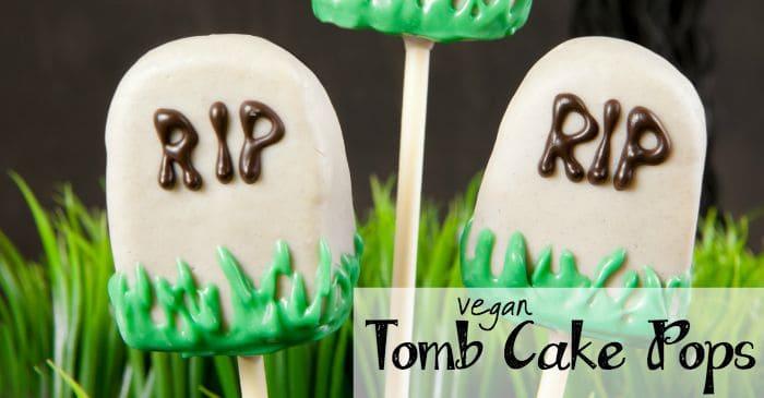 Vegan Tombstone Cake Pops Nerdy Mamma