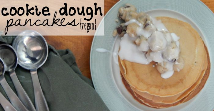 easy vegan cookie dough pancakes fb