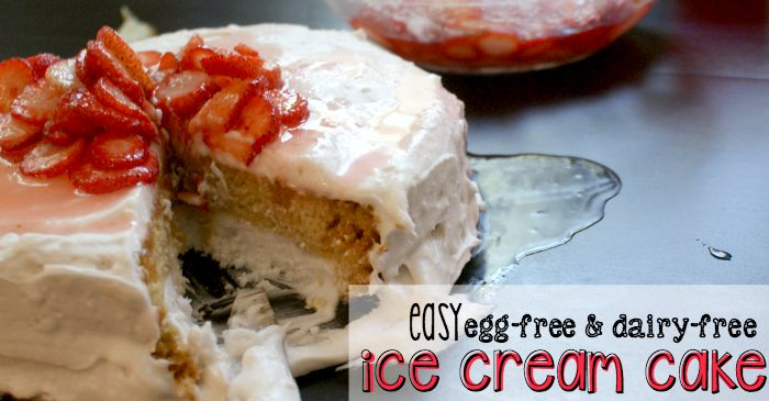 egg-free ice cream cake recipe fb
