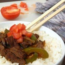 20-Minute Pepper Steak {buffet style}
