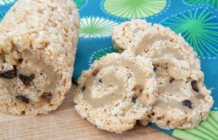 rice krispie cookie dough pinwheel treat idea feature