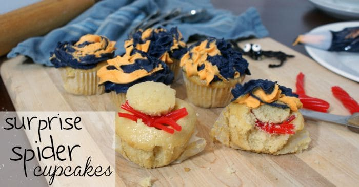silly spider cupcakes for halloween fb