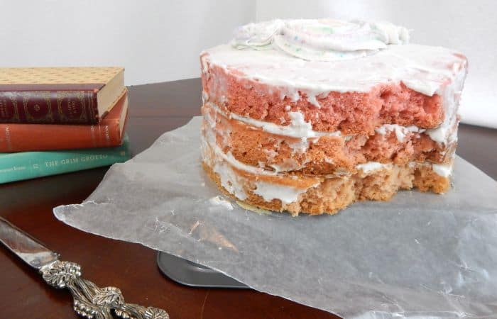 vintage vegan ombre cake feature