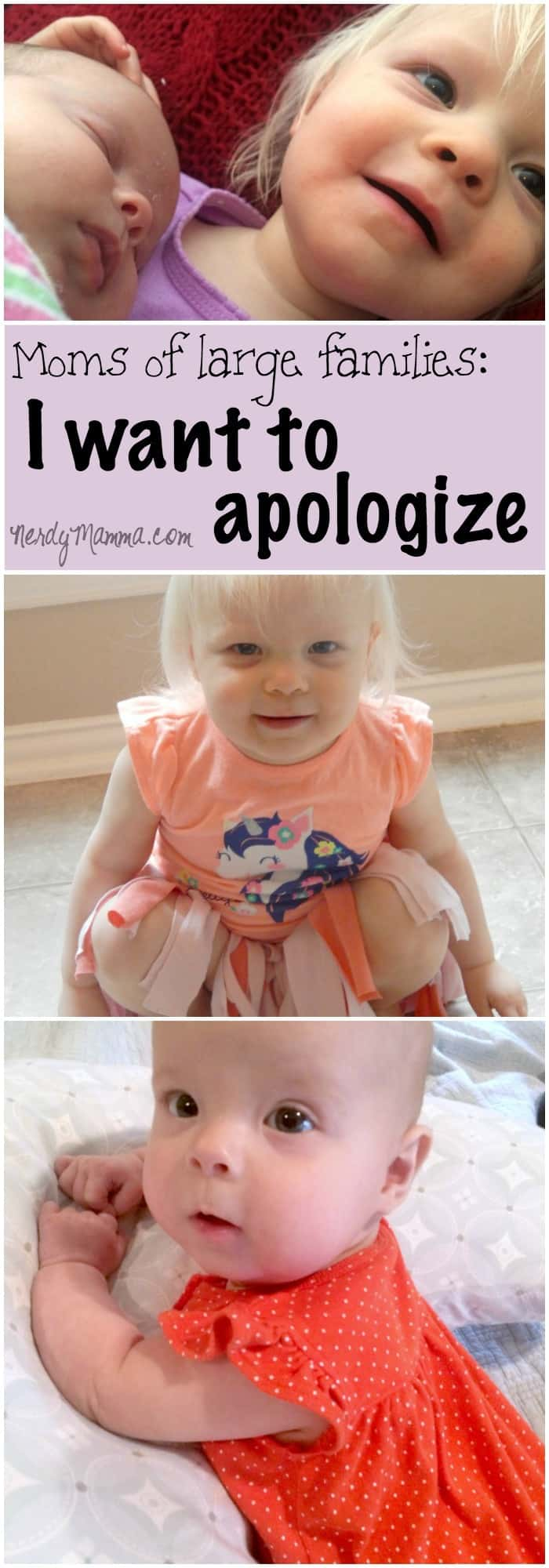 Dear Moms of families with lots of kids. I understand now, and I'm sorry about...you know, before.