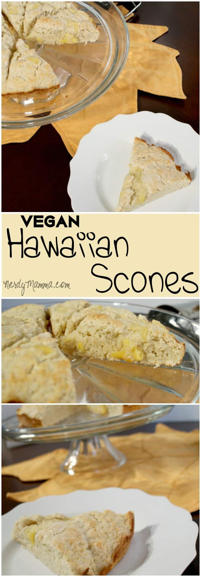 I loved these easy egg free and dairy free pineapple and coconut scones. They were so delicious. Yum!