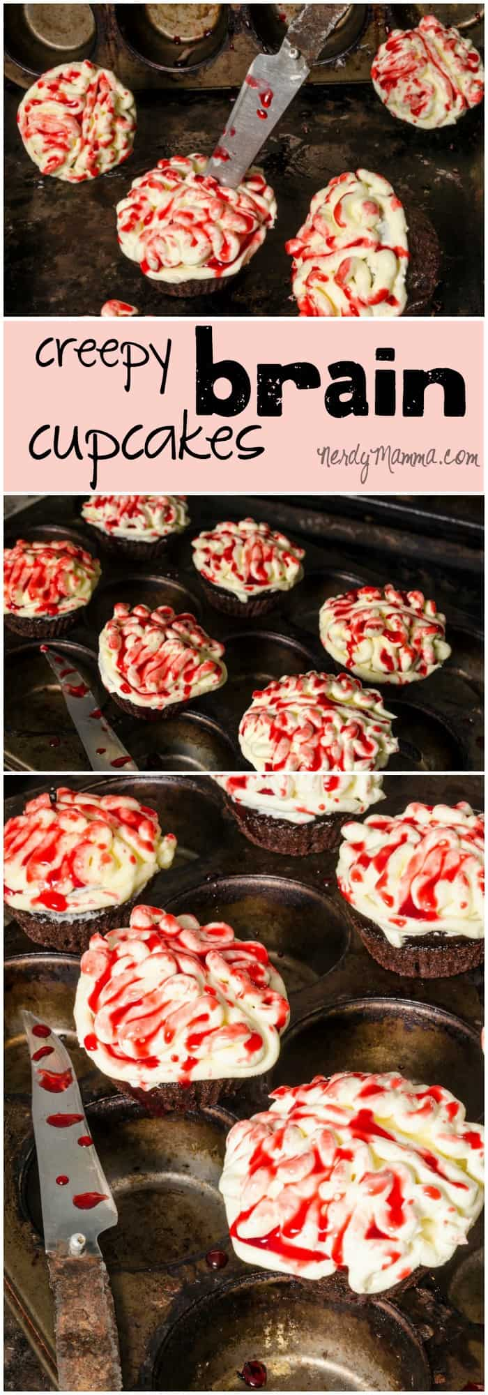 My kids thought these creepy brain cupcakes were so awesome. I thought, since they were eggless and dairy-free, they were pretty awesome, too.