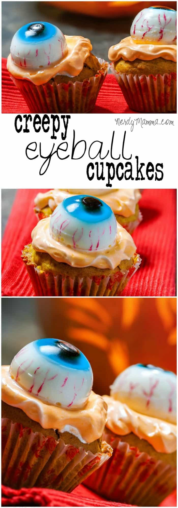 These easy eyeball cupcakes are egg-free and dairy-free...and fast. They make for an awesome Halloween school party snack!