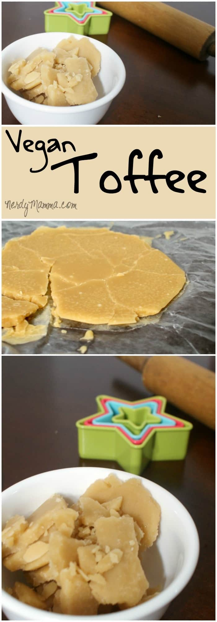 This recipe for eggless, dairy-free toffee is so easy. I can't believe I'd never made vegan toffee before! LOL!