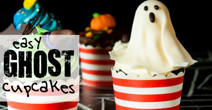 cupcake with ghosts on top fb