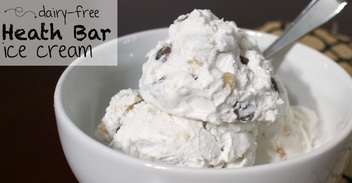 dairy-free copycat heath bar ice cream fb
