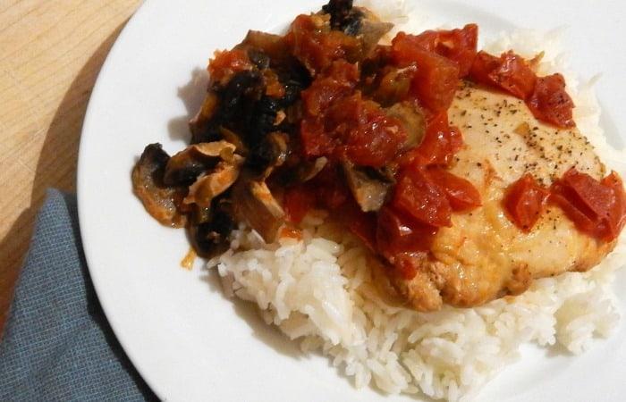 easy crockpot recipe with frozen chicken feature
