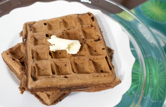 easy dairy-free chocolate waffles feature
