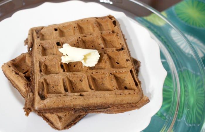 Dairy-Free & Eggless Chocolate Waffles