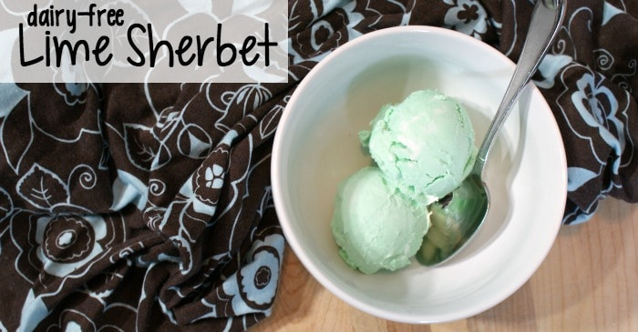 easy dairy-free lime sherbet recipe fb