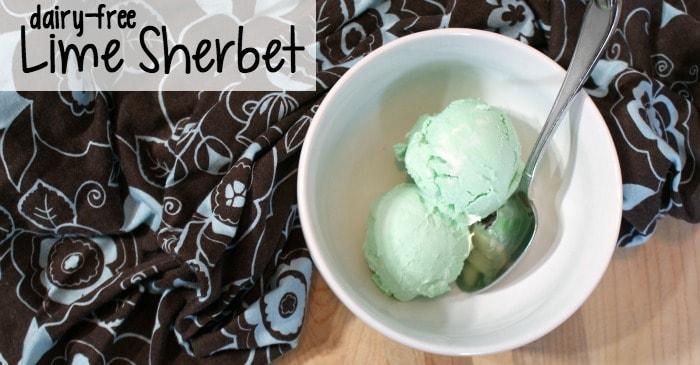 easy dairy-free lime sherbet recipe fb