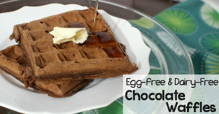easy egg-free and dairy-free chocolate waffle recipe fb