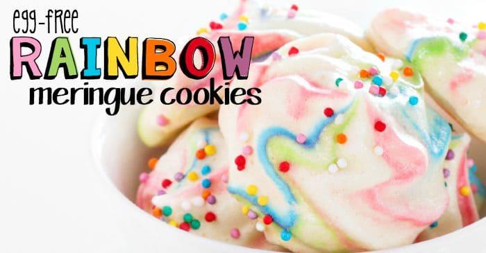 easy egg-free remingue cookies with rainbow swirls fb