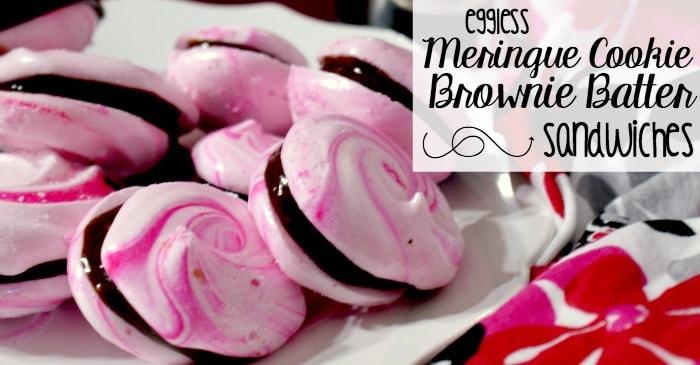 easy eggless meringue cookie sandwiches fb