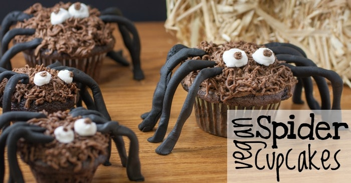 easy vegan spider cupcakes fb
