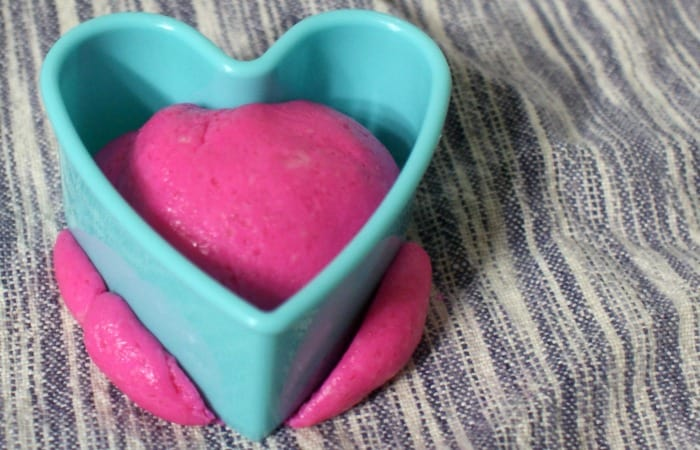 easy watermelon flavored play dough recipe feature