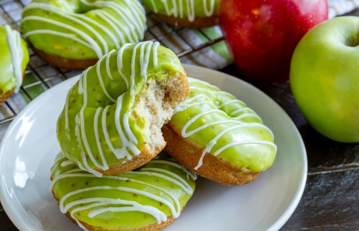 homemade caramel apple donuts feature