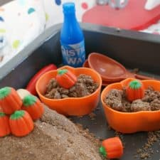 Super Fun and Simple Muddy Pumpkin Patch Invitation to Play