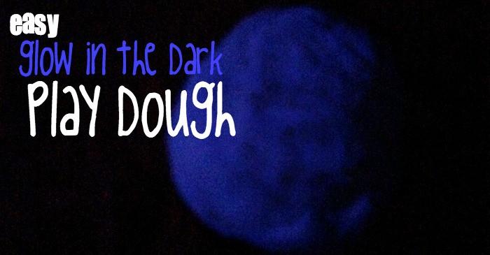 simple glow in the dark playdough reciope fb