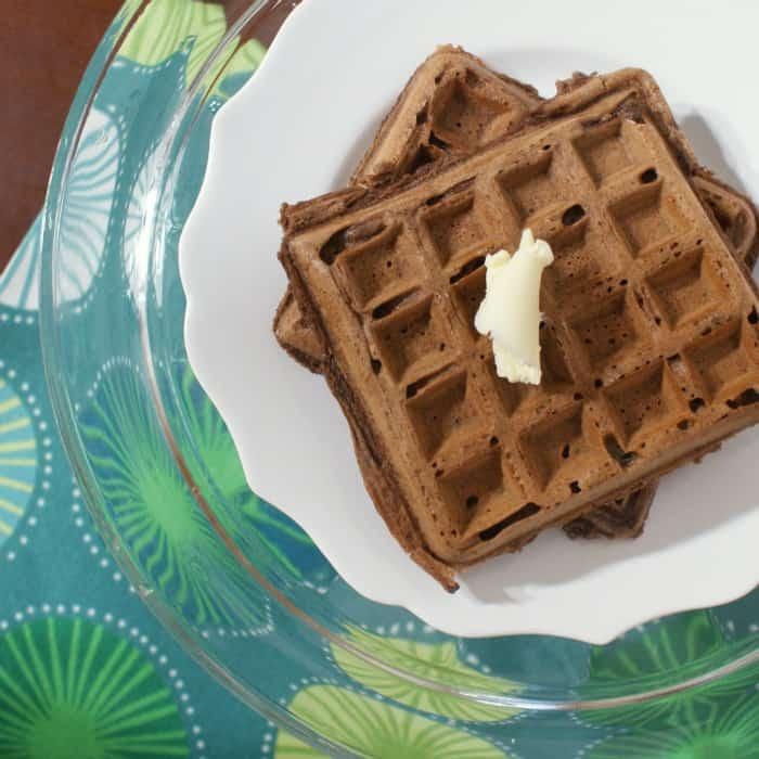 yummy eggfree chocolate waffle recipe sq