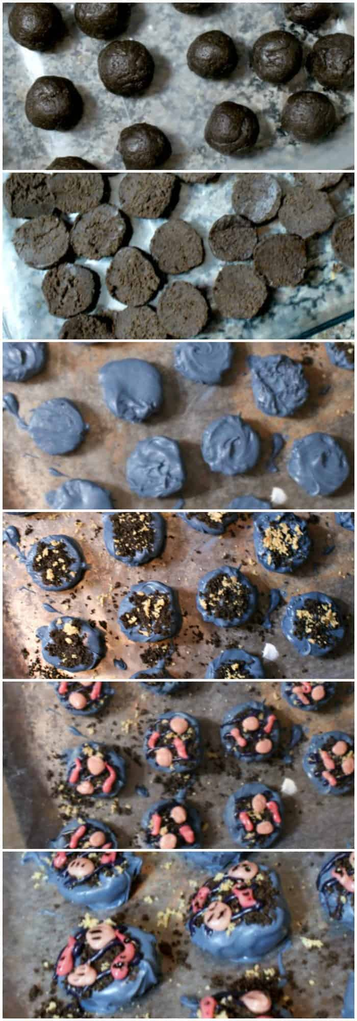 Easy grill cookie balls made from OREOs. This is how you make them!