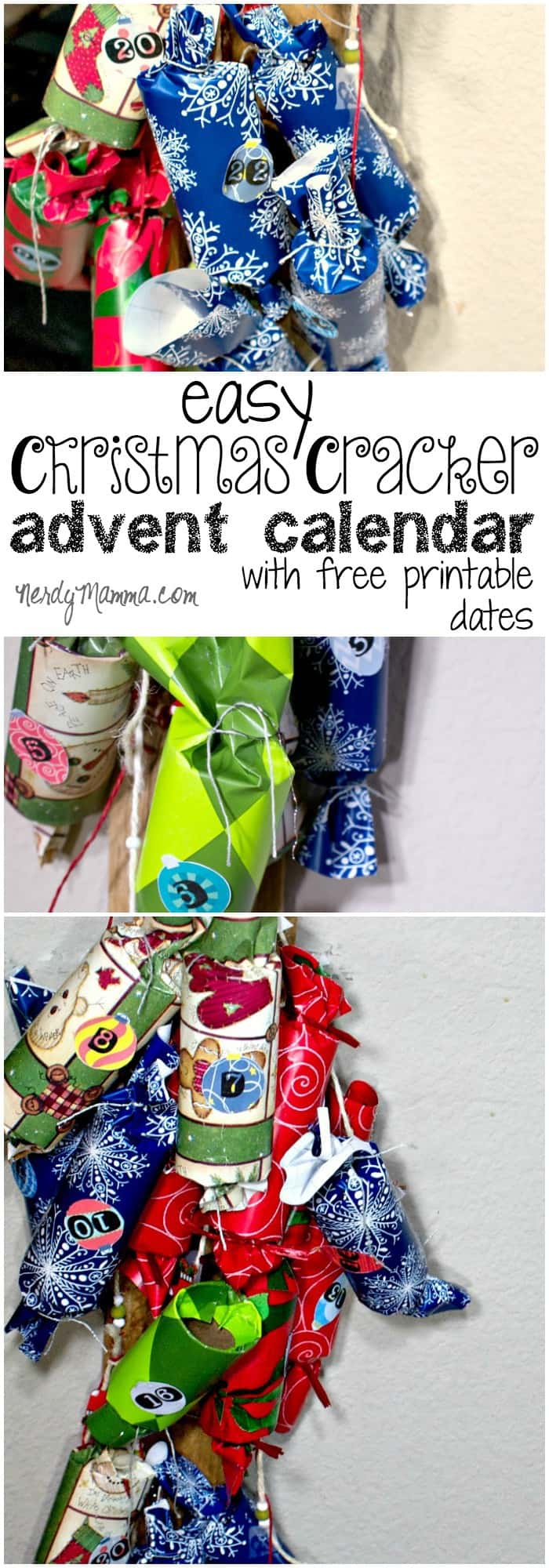 I LOVE this idea for an advent calendar made out of Christmas Crackers. And the quick tutorial for how to make the crackers is so easy. Like I said LOVE it.