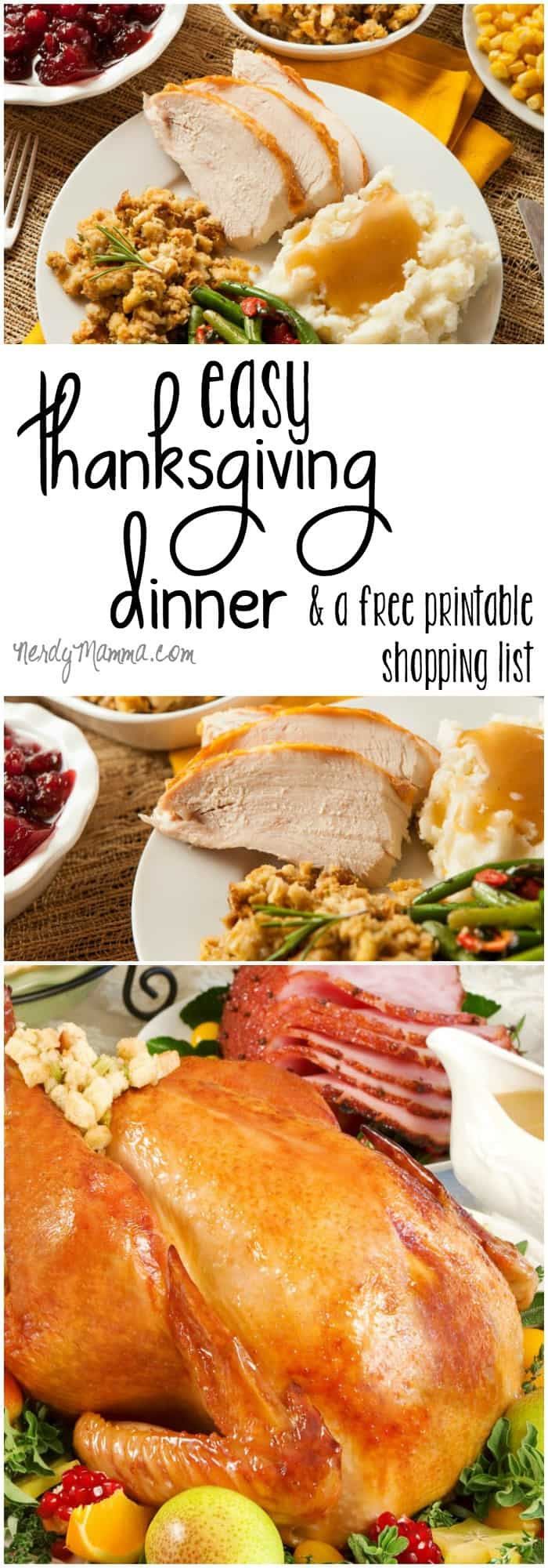 I love having all my thanksgiving dinner laid-out like this. So easy to just click and cook. And with the printable shopping list--my Thanksgiving dinner just got tons easier! LOL!