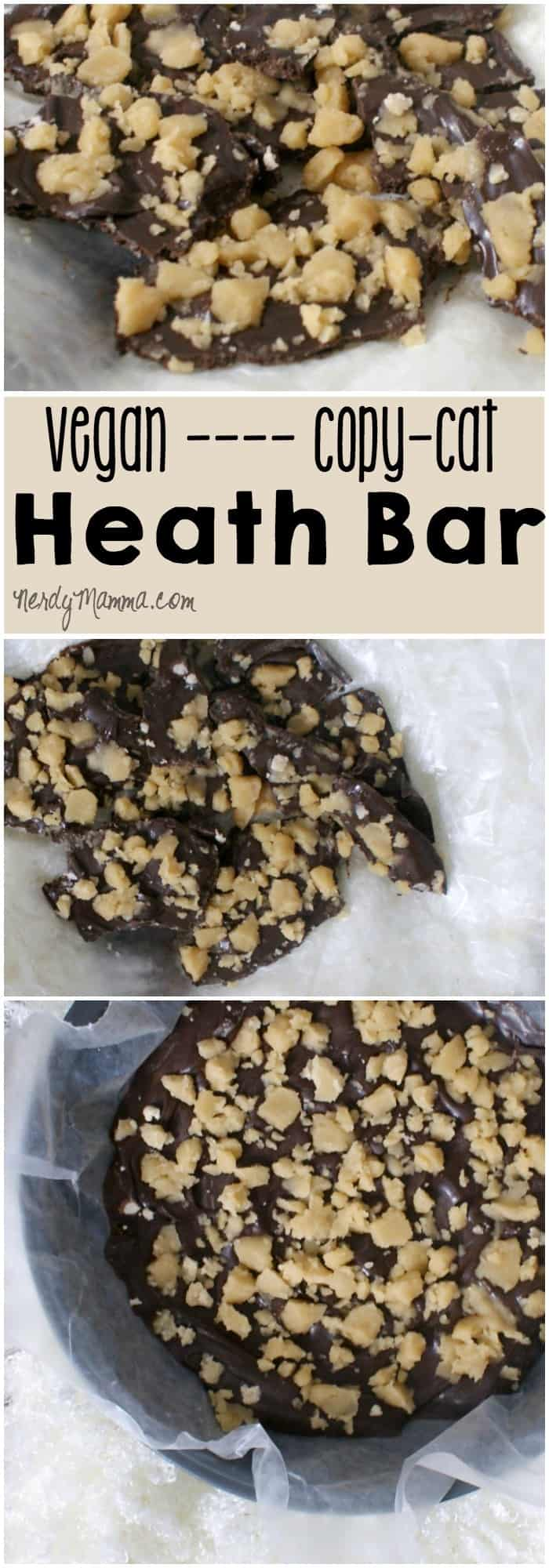I may or may not have just eaten my weight in this awesome vegan heath bar. I mean, toffee, chocolate; all dairy-free, gluten free and mmmmm....can you blame me