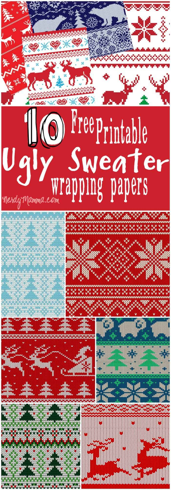 I think, for every present under our tree this year, I'm going to have ugly sweater wrapping on it! This is funny, fun, and kinda nerdy. I love it.